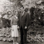 Charlie and Joan in Seattle park, spring 1963