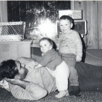 On floor with Mark and Anna, Jan 1969, Sitka