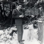 With Sajo, fall 1967, Sitka cabin