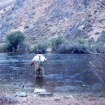 Charlie fishing in Klickatat River