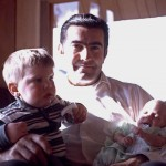 Charlie w/babies, Mark and Anna