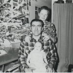 Family christmas, 1966, cabin in Sitka