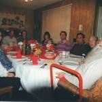 Family at Christmas table, 1999