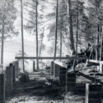 Foundation for AFrame in Sitka, fall 1967