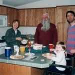 MnM new house, first meal, 12-5-99